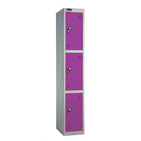 Coloured Three Door Locker