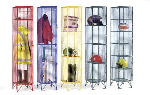 Wire Mesh Five Door Locker
