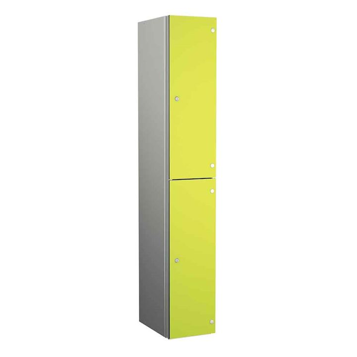 Aluminium Lockers - Zenbox 2 Door 1800H