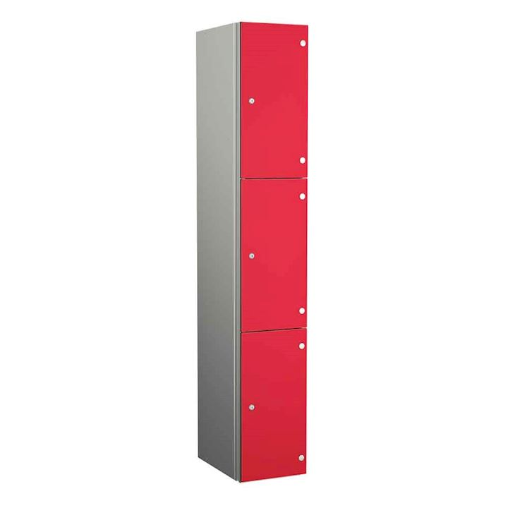 Aluminium Lockers - Zenbox 3 Door 1800H