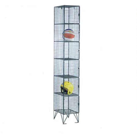 Wire Mesh Six Door Locker