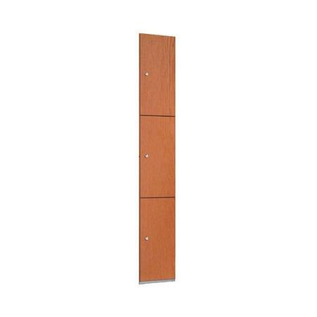 Timber Effect Three Door Locker