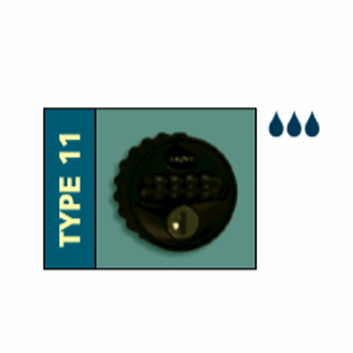 Probe Type 11 Wet Area 4 scroll combination lock